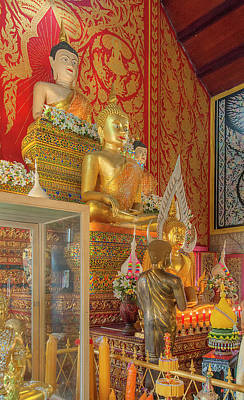 Photograph - Wat Phra That Doi Saket Phra Wihan Buddha Images Dthcm2184 by Gerry Gantt