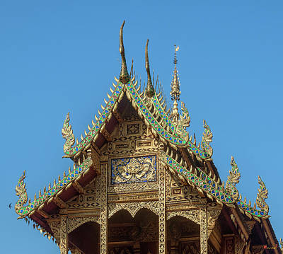 Photograph - Wat Phra That Hariphunchai  Ho Tham Gable Dthlu0042 by Gerry Gantt