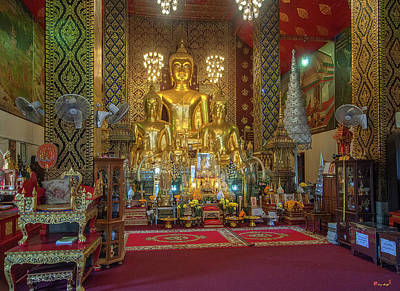 Photograph - Wat Phra That Hariphunchai Phra Wihan Buddha Images Dthlu0004 by Gerry Gantt