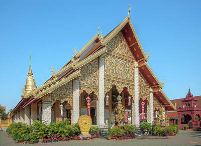 Photograph - Wat Phra That Hariphunchai Phra Wihan Dthlu0006 by Gerry Gantt