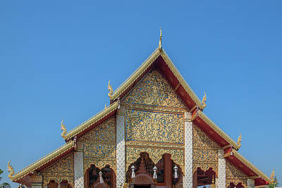 Photograph - Wat Phra That Hariphunchai Phra Wihan Gable Dthlu0002 by Gerry Gantt