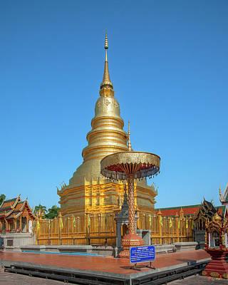 Photograph - Wat Phra That Hariphunchai Phrathat Hariphunchai Chedi Dthlu0008 by Gerry Gantt