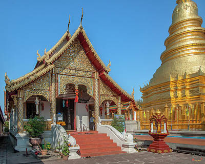 Photograph - Wat Phra That Hariphunchai South Buddha Wihan Dthlu0016 by Gerry Gantt