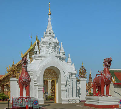 Photograph - Wat Phra That Hariphunchai Tha Singha Entrance Gate  Dthlu0049 by Gerry Gantt
