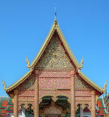 Photograph - Wat Phra That Hariphunchai Wihan Of The Enlightened Buddha Gable Dthlu0024 by Gerry Gantt
