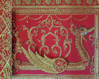 Photograph - Wat Phra That Lampang Luang Phra Wihan Interior Frieze Dthla0064 by Gerry Gantt