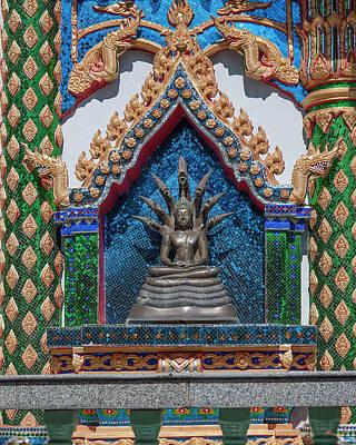 Photograph - Wat Phratat Chom Taeng Phra Ubosot Buddha Image Niche Dthcm1694 by Gerry Gantt