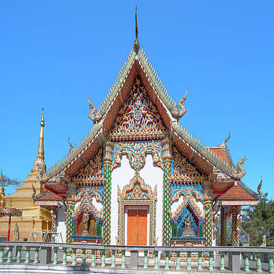 Photograph - Wat Phratat Chom Taeng Phra Ubosot Dthcm1690 by Gerry Gantt