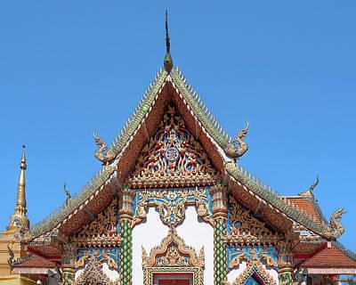 Photograph - Wat Phratat Chom Taeng Phra Ubosot Gable Dthcm1691 by Gerry Gantt