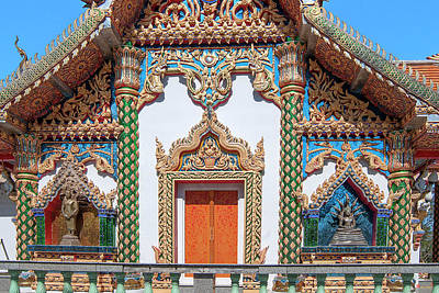 Photograph - Wat Phratat Chom Taeng Phra Ubosot Side Entrance Dthcm1692 by Gerry Gantt