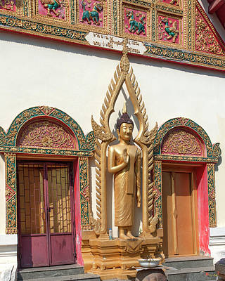 Photograph - Wat Phrom Chariyawat Original Ubosot Buddha Image Dthns0131 by Gerry Gantt