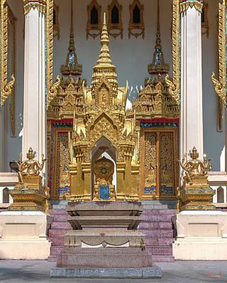 Photograph - Wat Phrom Chariyawat Phra Ubosot Boundary Stone Dthns0120 by Gerry Gantt