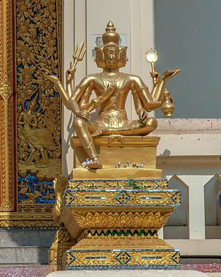 Photograph - Wat Phrom Chariyawat Phra Ubosot Brahma Image Dthns0121 by Gerry Gantt