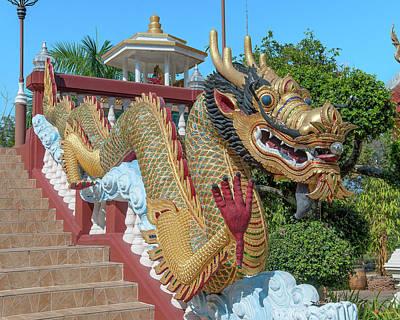 Photograph - Wat Piyaram Wealth Luck Buddha Shrine Dragon Dthcm1235 by Gerry Gantt