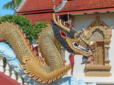 Photograph - Wat Piyaram Wealth Luck Buddha Shrine Dragon Dthcm1237 by Gerry Gantt