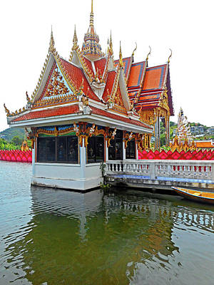 Photograph - Wat Plai Laem 12 by Ron Kandt