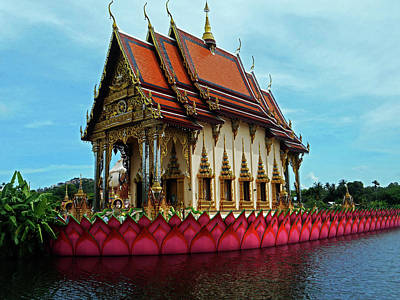 Photograph - Wat Plai Laem 9 by Ron Kandt