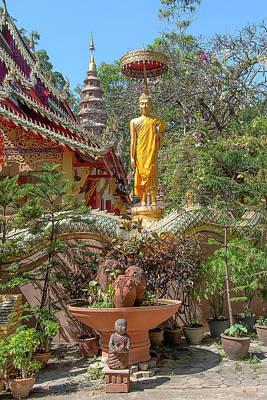 Photograph - Wat Ram Poeng Phra Wihan Standing Buddha Image Dthcm2437 by Gerry Gantt