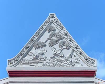 Photograph - Wat Ratcha Orasaram Gable Dthb1844 by Gerry Gantt