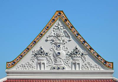 Photograph - Wat Ratcha Orasaram Meru Or Crematorium Gable Dthb0868 by Gerry Gantt