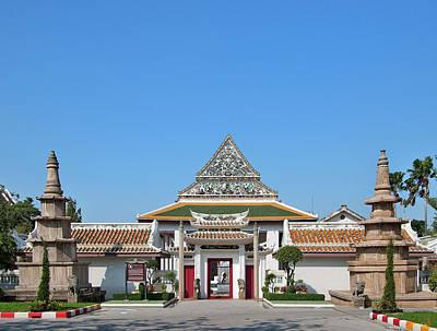Photograph - Wat Ratcha Orasaram Phra Ubosot Gate Dthb0426 by Gerry Gantt
