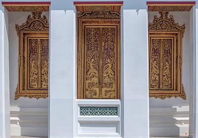 Photograph - Wat Ratcha Orasaram Phra Wihan Entrance Dthb1686 by Gerry Gantt