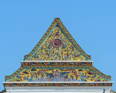 Photograph - Wat Ratcha Orasaram Phra Wihan Gable Dthb0862 by Gerry Gantt