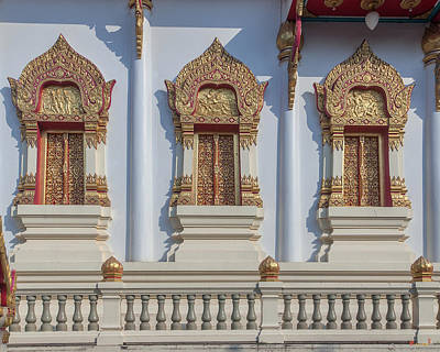 Photograph - Wat Ratcha Thanee Phra Ubosot Windows Dthst0218 by Gerry Gantt