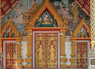 Photograph - Wat Rong Oa Phra Wihan Doors Dthcm1444 by Gerry Gantt