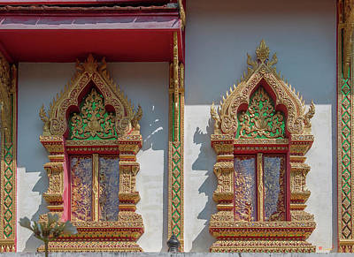 Photograph - Wat Rong Sao Phra Ubosot Windows Dthlu0170 by Gerry Gantt