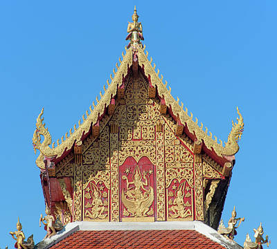 Photograph - Wat Saen Fang Phra Ubosot Gable Dthcm1129 by Gerry Gantt