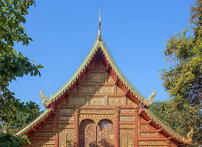Photograph - Wat Saen Fang Phra Wihan Gable Dthcm1118 by Gerry Gantt