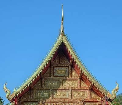 Photograph - Wat Saen Fang Phra Wihan Top Gable Dthcm1119 by Gerry Gantt