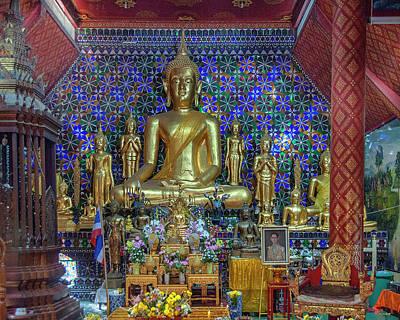 Photograph - Wat San Pa Khoi Phra Wihan Buddha Images Dthcm2478 by Gerry Gantt