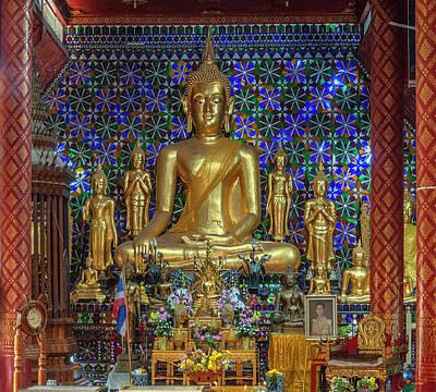 Photograph - Wat San Pa Khoi Phra Wihan Buddha Images Dthcm2479 by Gerry Gantt