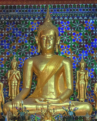 Photograph - Wat San Pa Khoi Phra Wihan Principal Buddha Image Dthcm2480 by Gerry Gantt