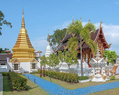 Photograph - Wat San Pu Loei Phra Chedi And Phra Ubosot Dthcm2280 by Gerry Gantt