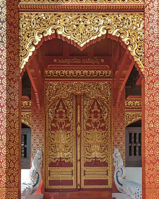 Photograph - Wat San Pu Loei Phra Ubosot Doors Dthcm2285 by Gerry Gantt