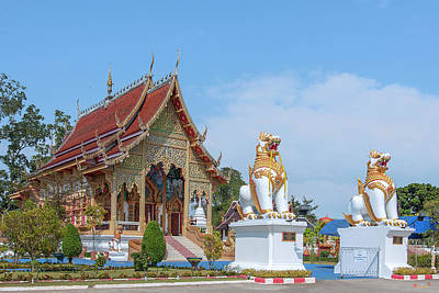 Photograph - Wat San Pu Loei Phra Wihan And Singha Gate Dthcm2298 by Gerry Gantt