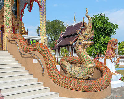 Photograph - Wat San Pu Loei Phra Wihan Makara And Naga Guardian Dthcm2263 by Gerry Gantt