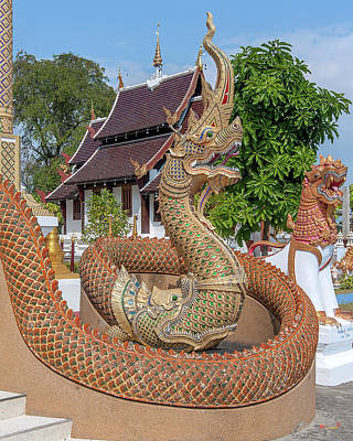 Photograph - Wat San Pu Loei Phra Wihan Makara And Naga Guardian Dthcm2264 by Gerry Gantt