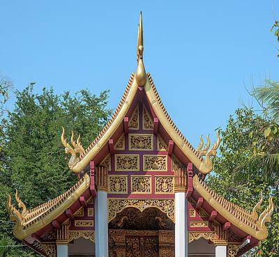 Photograph - Wat San Sai Ton Kok Phra Ubosot Gable Dthcm1396 by Gerry Gantt