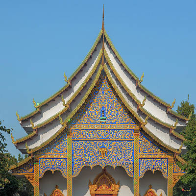 Photograph - Wat Santiwan Phra Wihan Gable Dthcm0980 by Gerry Gantt