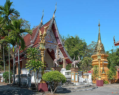 Photograph - Wat Sara Chatthan Phra Ubosot And Phra That Chedi Dthcm1721 by Gerry Gantt
