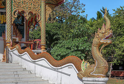 Photograph - Wat Si Chomphu Phra Wihan Makara And Naga Dthcm1709 by Gerry Gantt