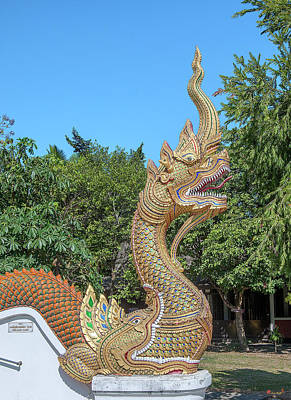 Photograph - Wat Si Chomphu Phra Wihan Makara And Naga Dthcm1710 by Gerry Gantt
