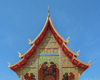 Photograph - Wat Si Chum Phra Ubosot Gable Dthlu0118 by Gerry Gantt