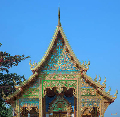 Photograph - Wat Si Lom Phra Wihan Gable Dthcm1006 by Gerry Gantt