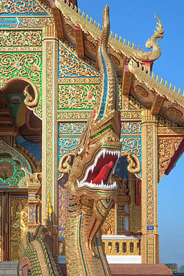 Photograph - Wat Si Lom Phra Wihan Naga Dthcm1010 by Gerry Gantt