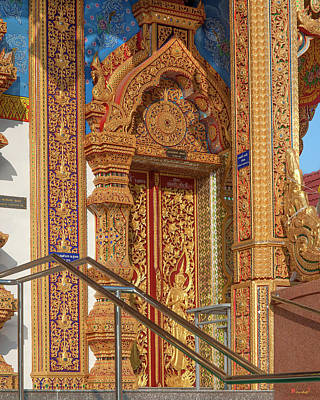 Photograph - Wat Si Lom Phra Wihan Side Door Dthcm1009 by Gerry Gantt